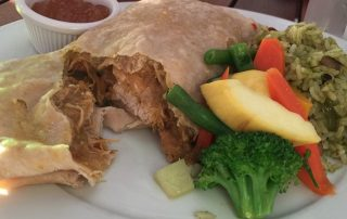 chicken roti and veggies